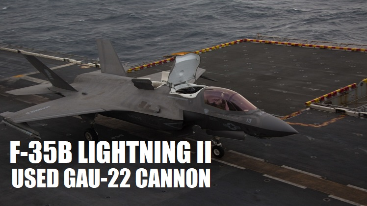 Marine F-35B Lightning II fighter aircraft complete GAU-22 cannon, ordnance hot reload exercise in Indo-Pacific Region